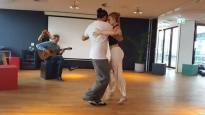 Tango lesson in Zoku hotel in Amsterdam