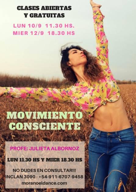 movimiento consciente estudio Mora Noel profe Julieta Albornoz